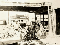 Early Soil Excavation in the 60's. W.D.Jones and Fred Jones.